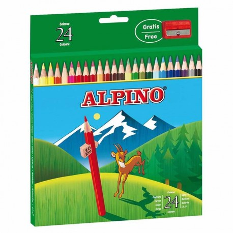 ALPINO ESTUCHE 24 LAPICES DE COLORES
