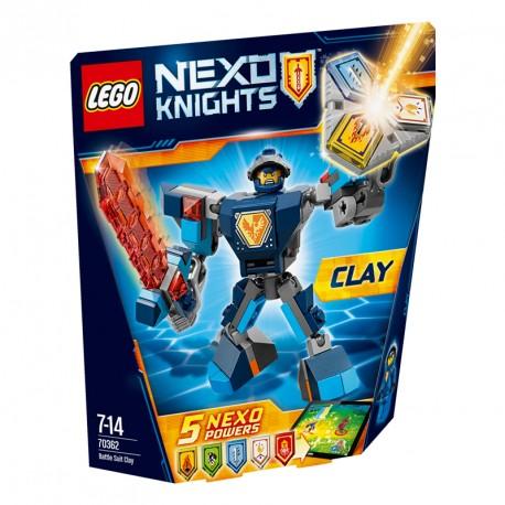 NEXO KNIGHTS CLAY CON ARMADURA DE COMBATE