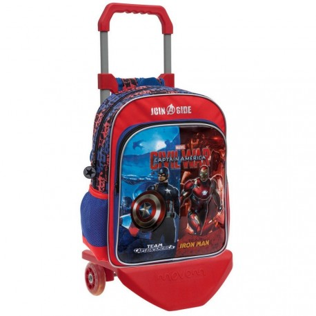 CIVIL WARS MOCHILA ADAPT.40 CM C/CARRO