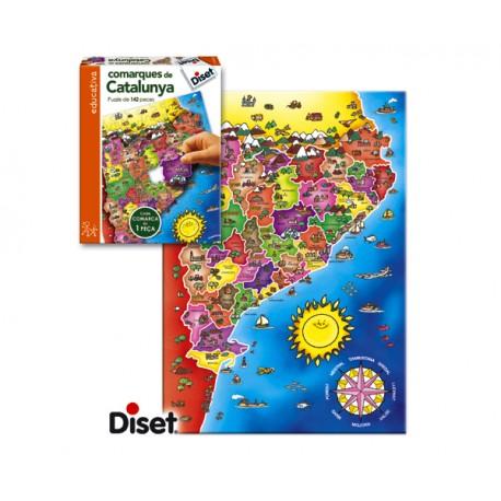 PUZZLE COMARQUES DE CATALUNYA (142 PIECES) - CATALÁN