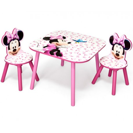 MINNIE MOUSE MESA Y 2 SILLAS