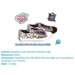 COLOR ME MINE ZAPATILLAS MONSTER HIGH