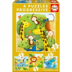 PUZZLE 12P+ ANIMALES SALVAJES